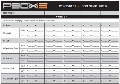 Beachbody P90x Worksheets Worksheets For All Download