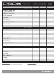 Chest And Back P90x Worksheet Download Printable PDF