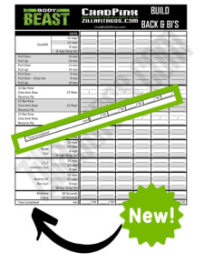 Improved Body Beast Worksheets Free Download
