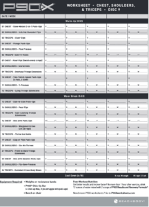 P90x Shoulders And Arms Workout Sheet Blog Dandk