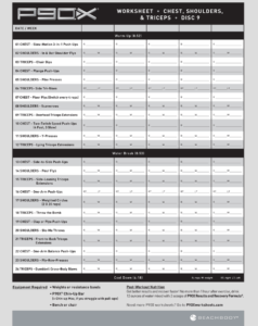 P90x Shoulders And Arms Workout Sheet Pdf EOUA Blog