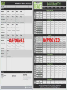 P90x Shoulders And Arms Worksheet Briefencounters
