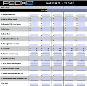 P90x Workout Schedule Lean Printable Workoutwaper co