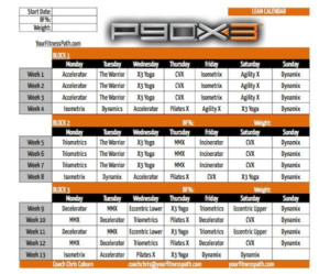 P90X3 Calendar With Images P90x3 Calendar Workout
