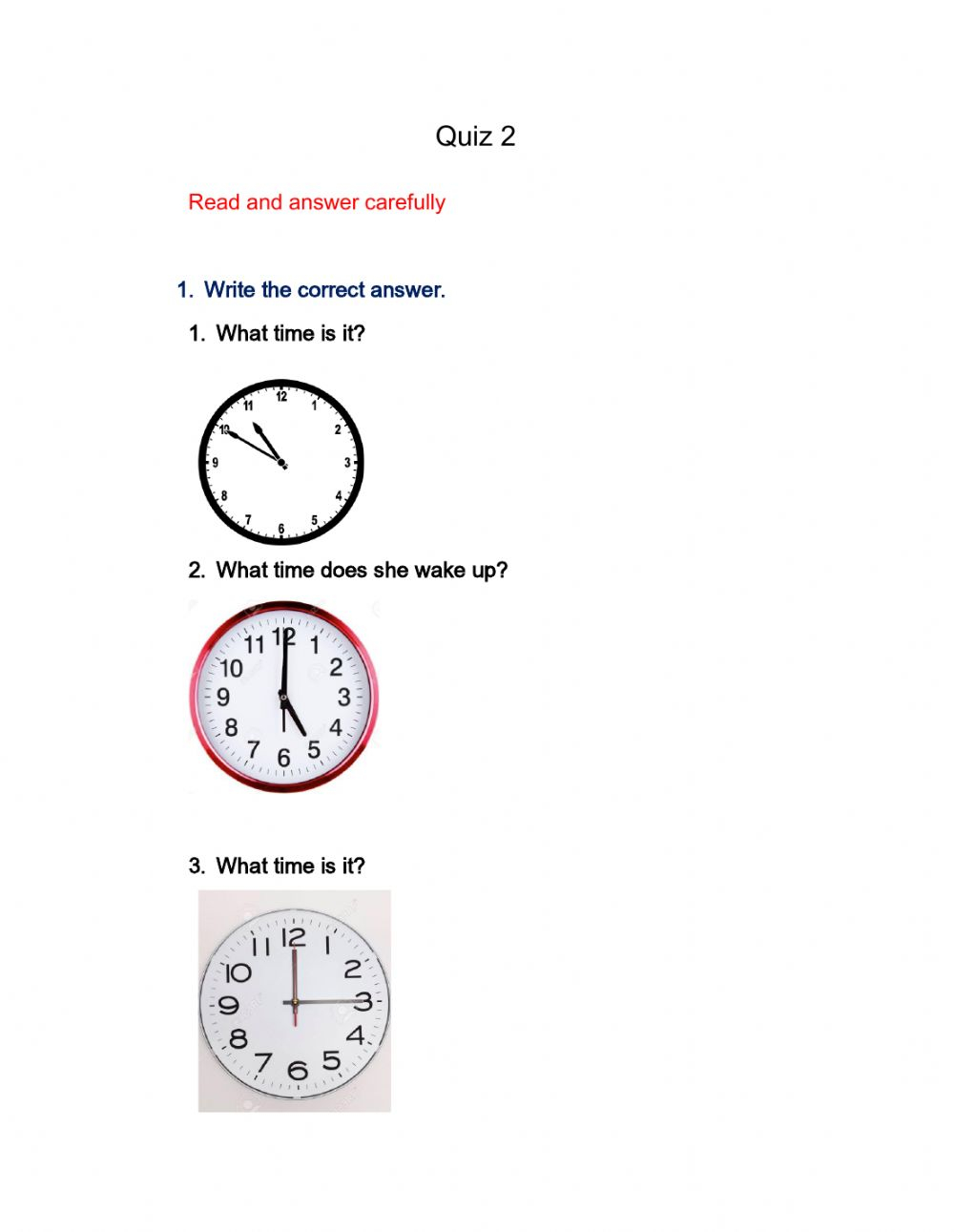 Quiz 2 Interactive Worksheet
