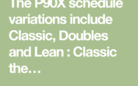 The P90X Schedule Variations Include Classic Doubles And