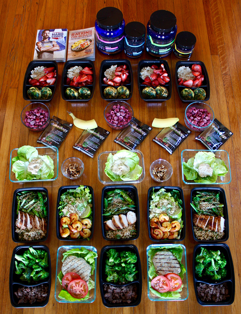 22 Minute Hard Corps Meal Plan Meal Prep Grocery List