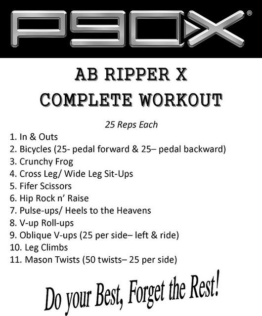 9 Tips For Working Out Together Abs Workout Ab Ripper