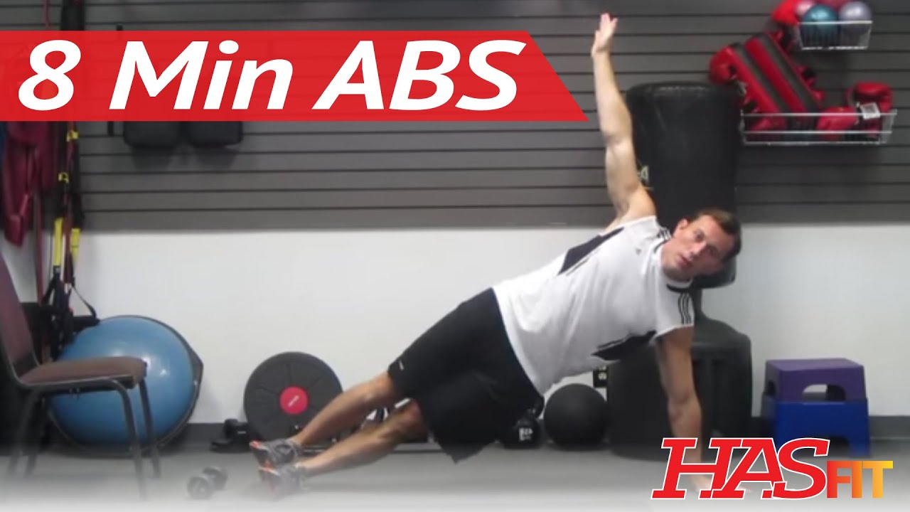 HASfit s Eight Minute Abs Workout To Get Ripped Abs Fast