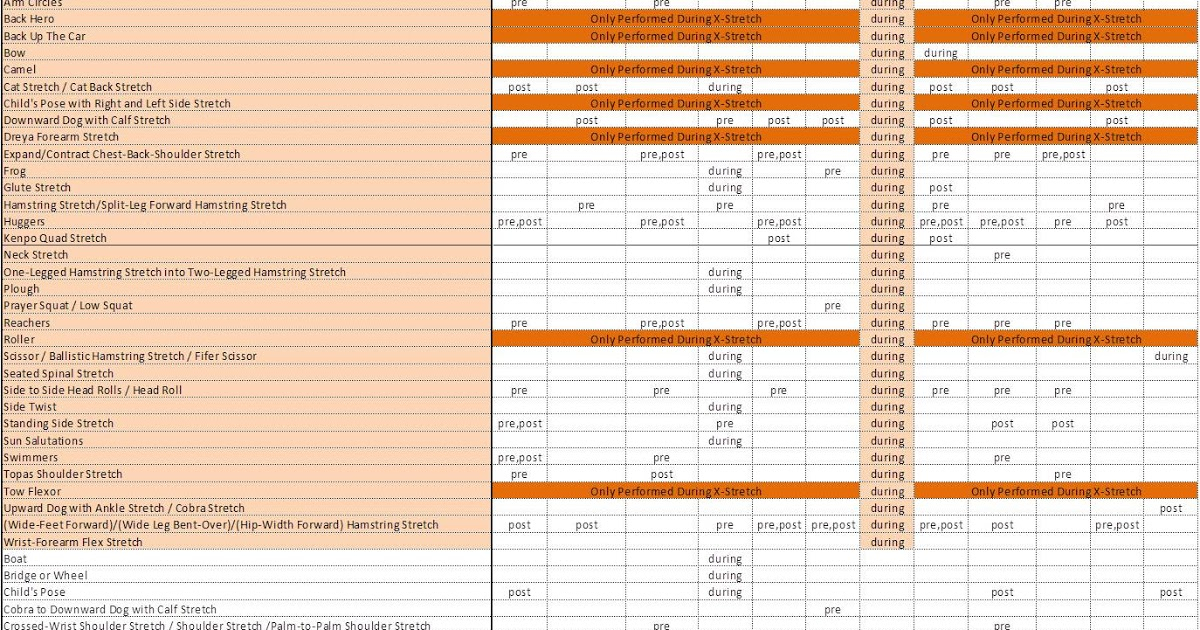Printable P90x Worksheets