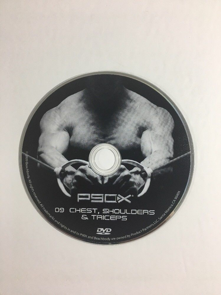 P90X DVD Chest Shoulders And Triceps Disc 9 Replacement