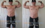 P90X Progress Day 1 And Day 7 Comparison