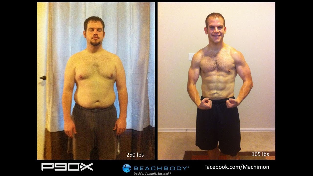 P90X Results Matt s Transformation 85 Pounds Lost