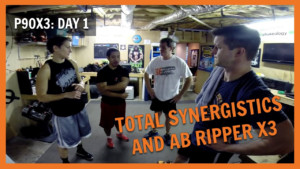P90X3 Day 1 Total Synergistics And Ab Ripper X3 NC FIT