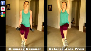 P90X3 Moves Glamour Hammer Balance Arch Press YouTube