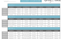 P90X3 Workout Schedule Lean Mass Classic Doubles