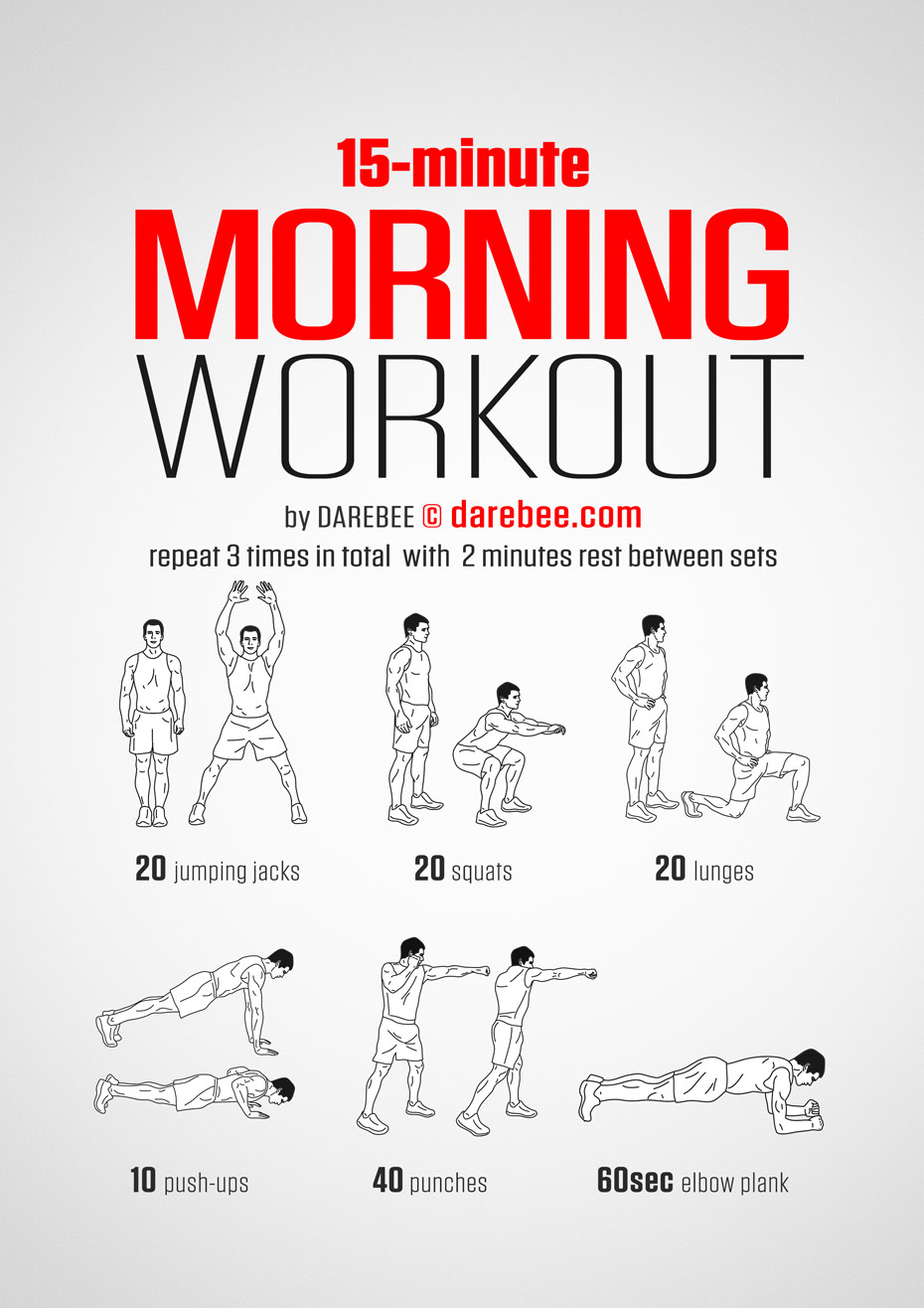 The 15 Minute Morning Workout You Can Do Anywhere