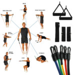 5 Resistance Workout Bands For P90X Exercise Slim In 6 EBay