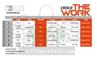 6 Weeks Of THE WORK Workout Calendar Your Fitness Path