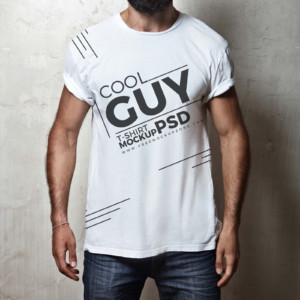 Male T shirt Mockup Available In PSD Download For Free