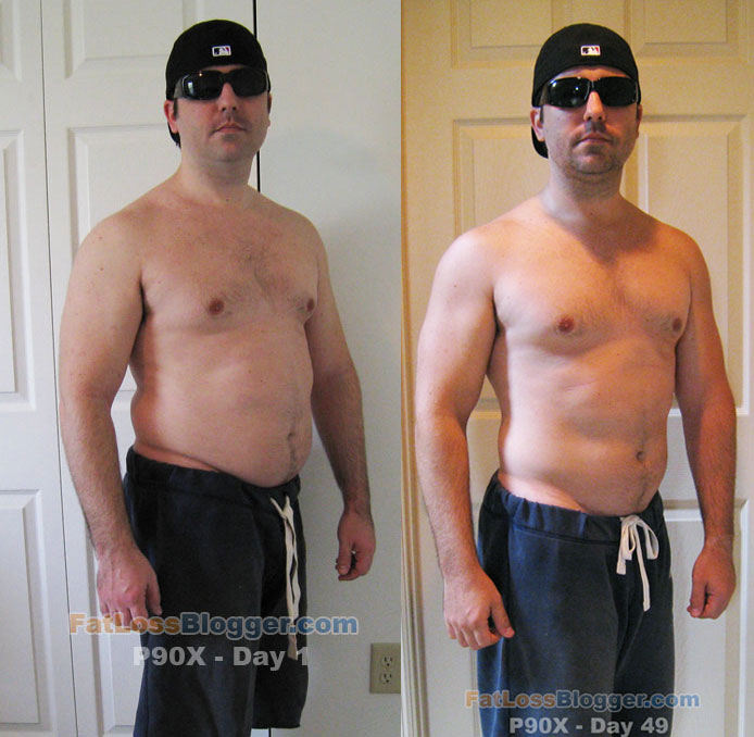P90X Before And After Photos Day 49