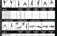 P90X Insanity Hybrid Day 0 Fit Test Schedule Bodamer