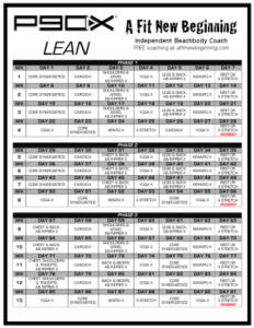 P90X Lean Schedule This Is What I Followed Much Better