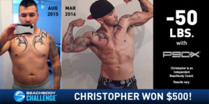 P90X Results Chris Lost 50 Pounds And Got Shredded The
