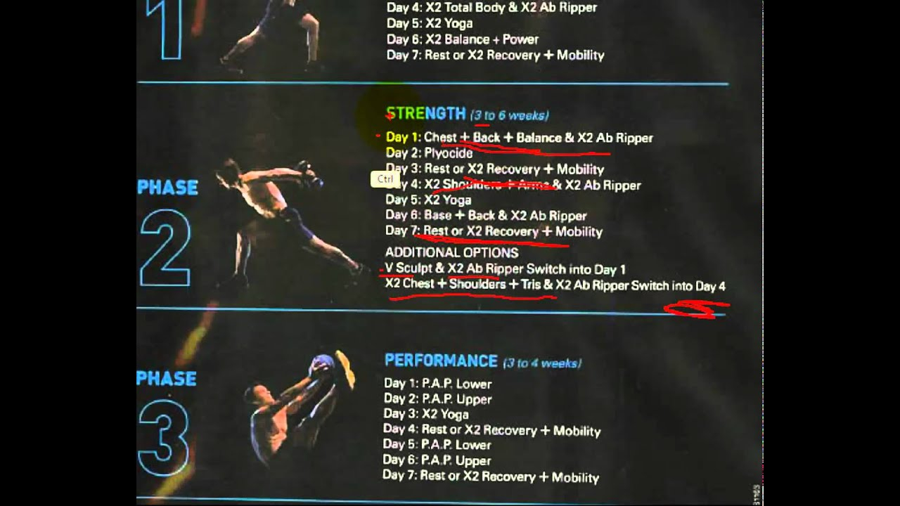 P90X2 Workout Schedule Step By Step Walkthrough PDF