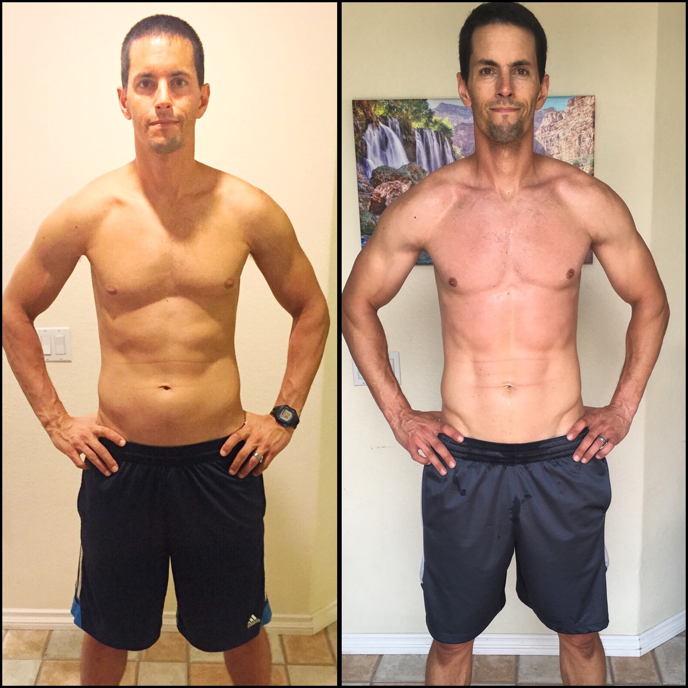 P90X3 before and after