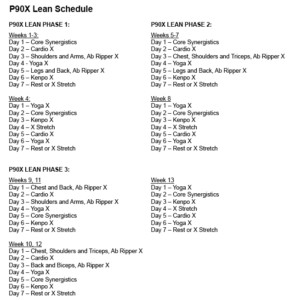 Real Change Fitness Decision P90X Lean