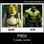 Shrek Weightloss P90X Advert Funny Joke Pictures